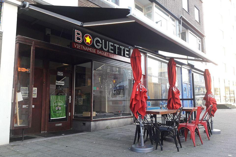 Zonwering In Rotterdam : Knikarmscherm verano santos v plaatsen bij boguette in rotterdam